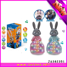 Cute electronic rabbit toy with dress