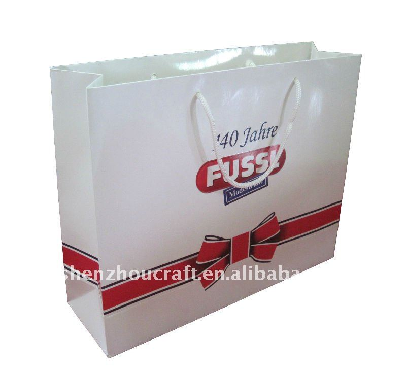 paper laminated promotional shopping packing bag