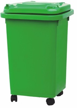 Durable Outdoor HDPE 13 gallon trash can Plastic Dustbin 50L Eco-Friendly Wheelie Plastic Trash Can or waste bin