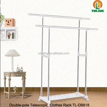 Mobility household hanging rotating clothes rack-Double pole L&H extensionable garment rack TL-DB618
