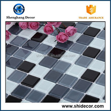 Interior house bathroom and outdoor swimming pool design mosaic tile of glass