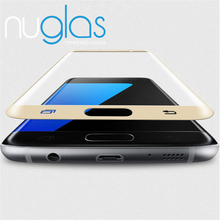 For samsung S7 curved NUGLAS tempered glass screen protector, 3D screen protector full coverage for Samsung S7