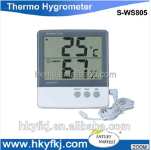 digital temperature probe thermometer hygrometer to record indoor outdoor temperature and humidity (S-WS805))