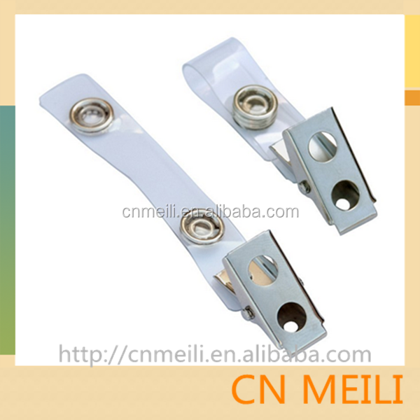 Promotional ID Card Badge Clips With Mylar Straps