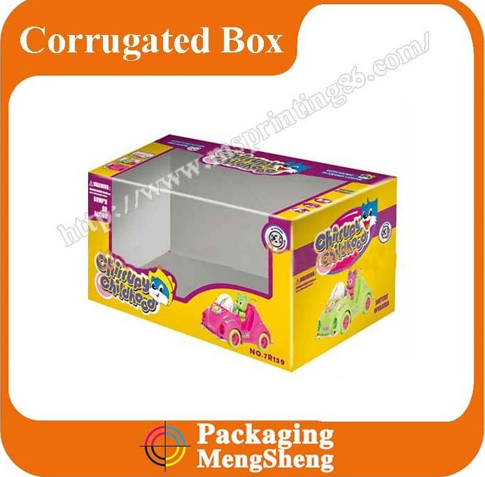 Strong carton corrugated clear pvc window packaging box