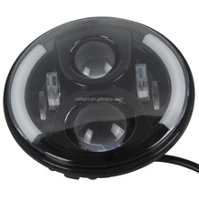 "Newest round 7"" led headlight high/low for jeep wrangler led headlight"
