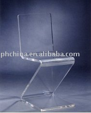 LY-7052 Luxury Perspex Z Pattern Chair,Crystal Clear PMMA Chair