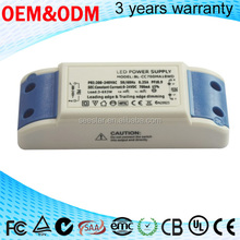 AC 220-240V input consant current triac dimmable led driver 350ma