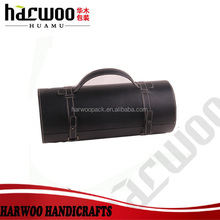 Classical black Wine bottle box,pu carrier