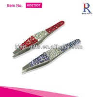 2013 The Most Fashionable Bling Rhinestone Diamond Rubis Tweezers Supplier|Factory|Manufacturer