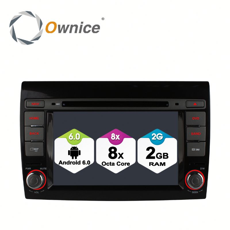 Ownice 8 Core Android 6.0 multifunction car DVD for Fiat Bravo support TV OBD DAB GPS NAVI RADIO Built 4G LTE