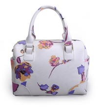 ladies structure handbag printing flower evening bag multi color shoulder bag