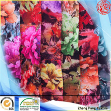 2014 floral digital print 75d polyester chiffon for lady garment
