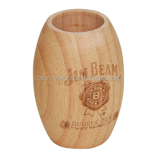 wooden coffee bean packing barrel gift box