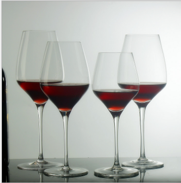 High quality unique Wholesale Wedding 400ML Lead-free Elegant Red Wine Glass Goblet Crystal Glass Cup For Wine