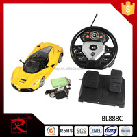 Fashion toy plastic RC drift car with rechargeable battery