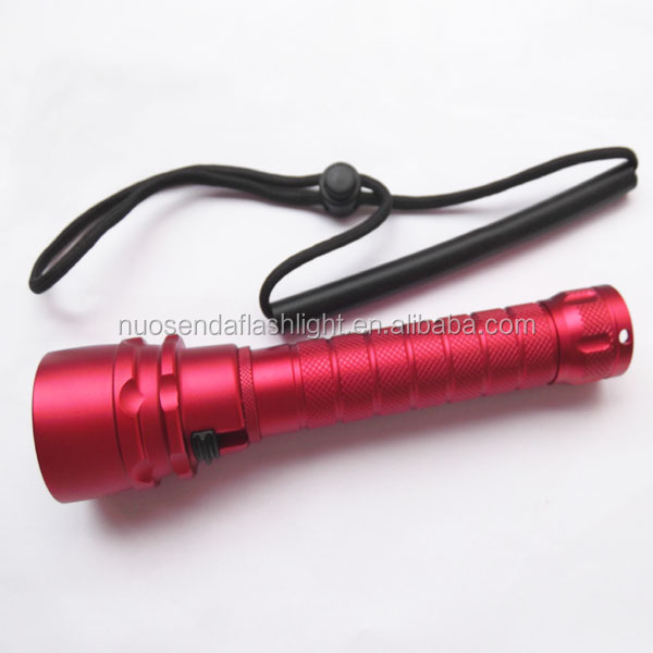 3xCREE XM-L2 U2 1500 Lumens Stepless Dimming Red Body LED Diving Flashlight (2x18650)