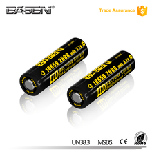 High capacity 18650 battery Basen 18650 2600mAh 40A 3.7V Rechargeable Battery For Vaping
