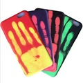 Magical Color Changing Thermal Sensor Fluorescent Thermal Heat Induction Matte Mobile Phone Back Case