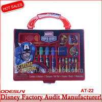 Disney NBCU FAMA BSCI GSV Carrefour Factory Audit Manufacturer Back To School Big Stationery Set Manufacturers With Pvc Case