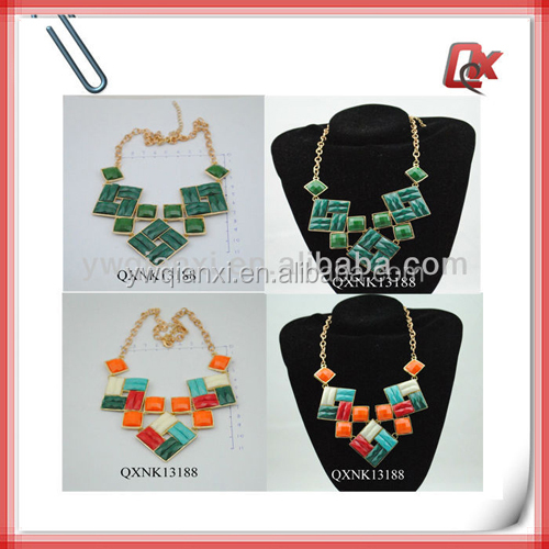 Tibetan necklaces with colorful big chunky neckalce (QXNK13188)