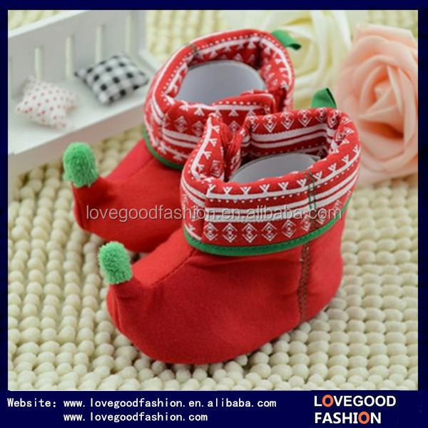 precioso regalo de navidad para bebs rojo clido elf beb botines
