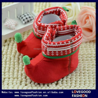 Lovely Christmas Gift for Babies Red Warm Elf Baby Booties Shoes Online