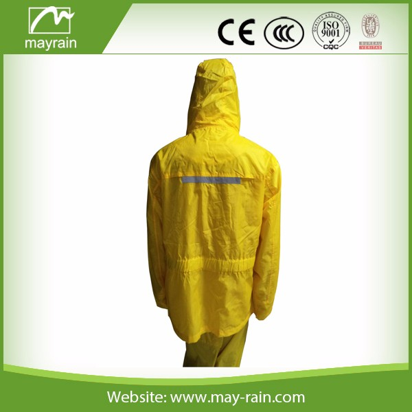 reflective outdoor men rain jacket with hood