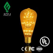 Edison cob st64 dimmable led filament bulb 5w 6w led filament bulb light st21 style standard led
