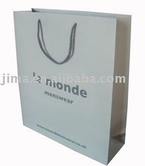 Le Monde Paper bag for men's cloth