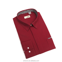New arrival 100% cotton custom made mens shirt with CMT price