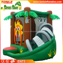 Inflatable Safari Bounce House and Slide/ Inflatable animal bouncer for toddlers