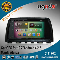 Hot factory 10.2inch android 4.2 car gps for Mazda Atenza audio interface