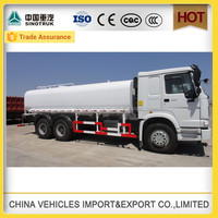 cnhtc sino howo transmission type fuel tanker truck capacity for sale