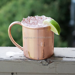 Wholesale 100% Copper Moscow Mule Mugs, Solid Copper mugs, 16 oz Solid Copper Moscow Mule Mug