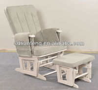 2013 Modern Recliner Rocking Chair with Footstool in Grey Color