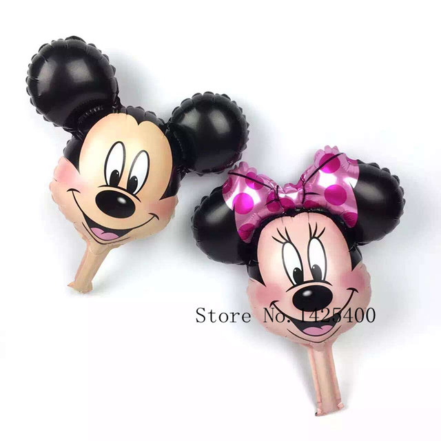 aluminum mini Minnie Mickey head first birthday party balloon decoration toy wholesale
