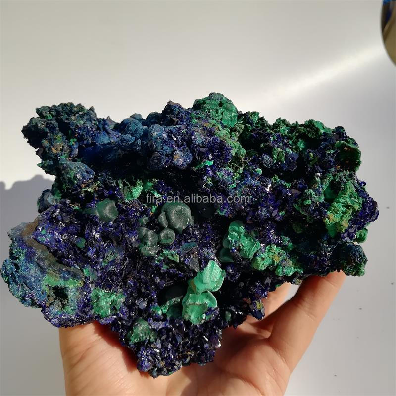 Wholesale Natural Azurite And Malachite Rough Stone Blue Azurite Mineral Specimen In Crystal Crafts