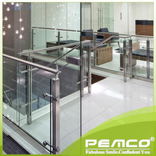 Morden Handrail Design Clear Glass Indoor ASTM Stair Stainless Steel Handrail
