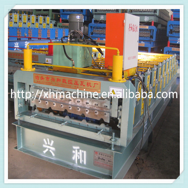 Trade Assurance 840-900 Double Layer Corrugated Shape Cold Rolled Roll Forming Machine