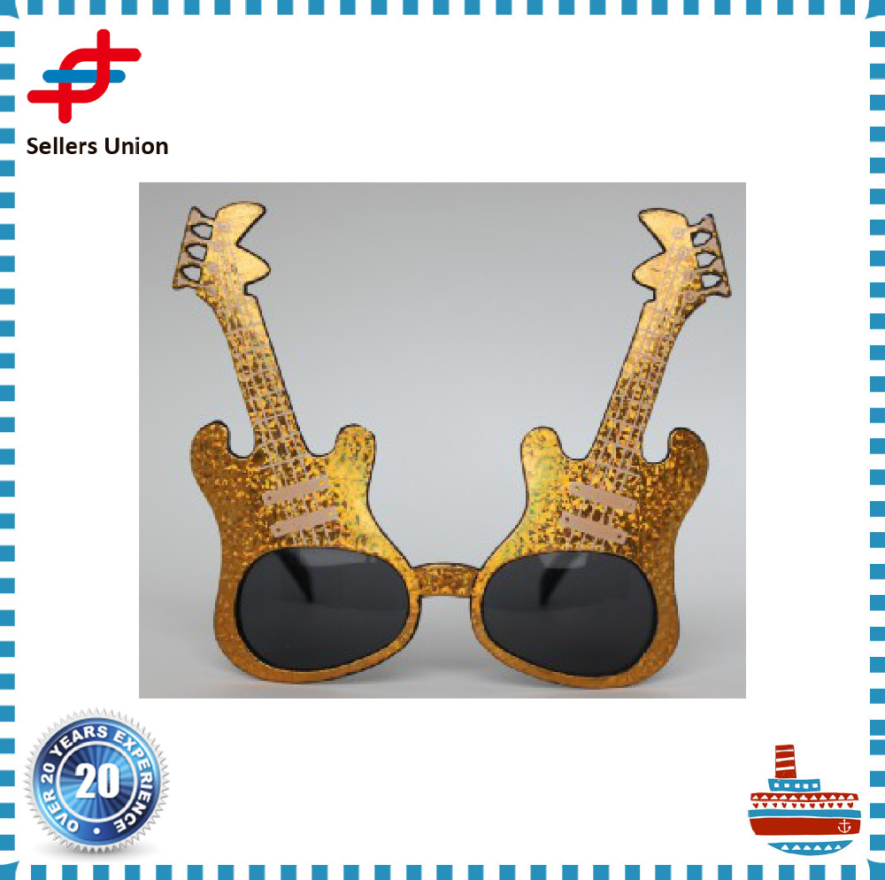 guitar shaped party sun glasses OEM celebrate manufacturer
