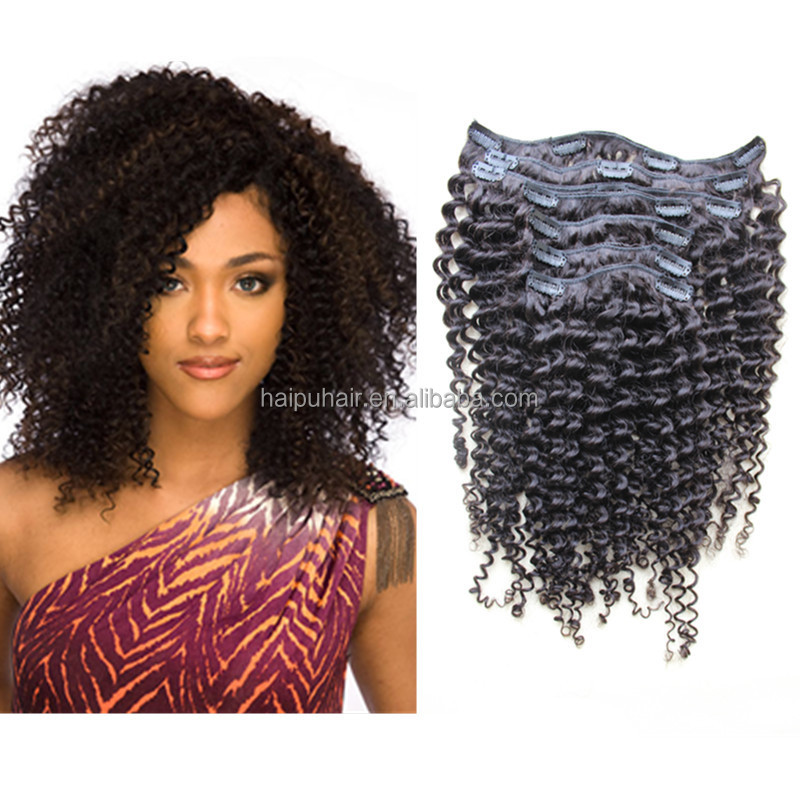 Afro kinky human hair afro kinky curly clip in human hair for Curly hair salon uk