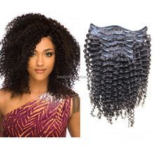 Afro kinky human hair/Afro kinky curly clip in human hair extensions