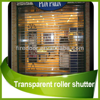 Transparent roller shutter door