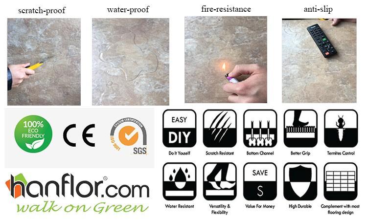 Anti Slip Pvc Floor Tilewaterstone Design Vinyl Tilehigh Gloss