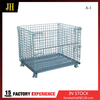 New Design Steel Storage Folded Wire Cage Detail