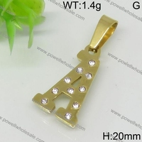 Superior quality gold color pick pendant
