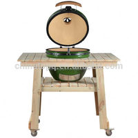 Barbecue High Quality bbq grill wooden table cart for street vending