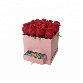 Manufacturer Wholesale Customized LOGO Square Flower Boxes with Drawer