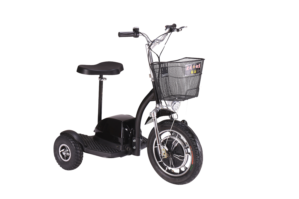 3 wheel folding portable scooter electric tricycle for adults with front baskets